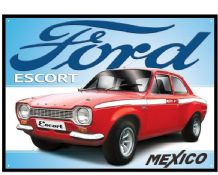 Ford Escort Mexico- Metal Wall Sign